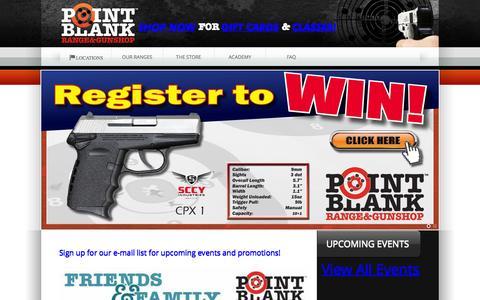 Screenshot of Home Page shootpointblank.com - Point Blank Indoor Shooting Range & Gun Shop | Cincinnati Ohio - captured Sept. 18, 2015