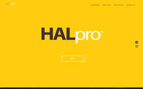 Screenshot of Home Page halpro.com.mx - HALpro | Casa Productora - captured July 14, 2018