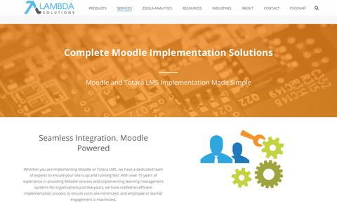 Screenshot of Services Page lambdasolutions.net - Moodle Learning Management Systems Implementation - captured Oct. 23, 2018