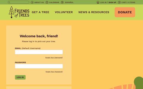 Screenshot of Login Page friendsoftrees.org - Login – Friends of Trees - captured Feb. 4, 2018