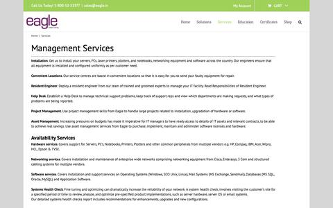 Screenshot of Services Page eagle.in - Services - www.eagle.in - captured Nov. 9, 2018