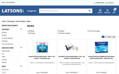 Screenshot of Press Page latsons.com - Media - LATSONS.COM - captured Dec. 14, 2018