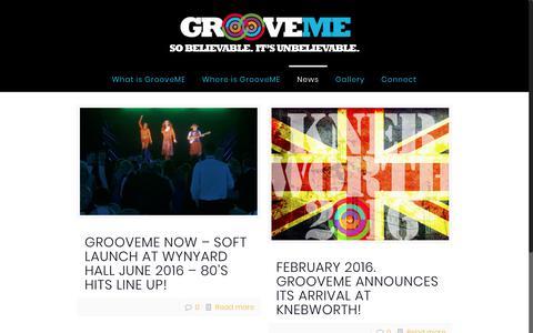 Screenshot of Press Page groovemenow.com - News & Interviews | Groove Me - captured Sept. 20, 2017