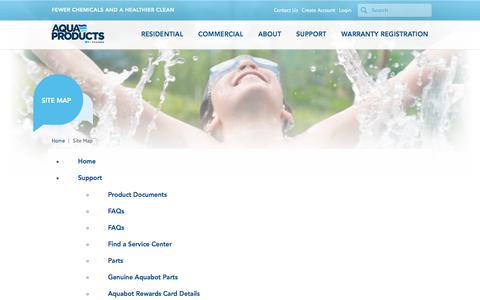 Screenshot of Site Map Page aquabot.com - Sitemap for Aquabot.com | Aquabot - captured July 30, 2018