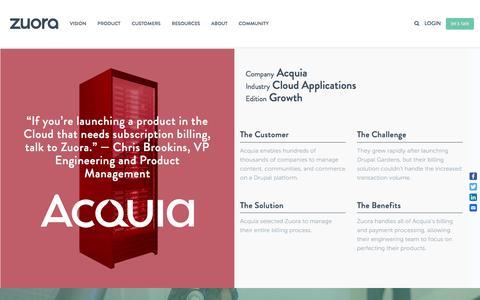 Screenshot of Case Studies Page zuora.com - Acquia Case Study - Zuora - captured Sept. 11, 2017