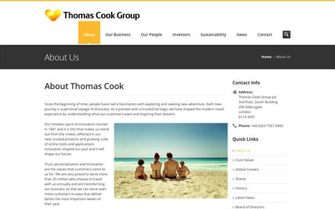 Thomas Cook Group – About Us