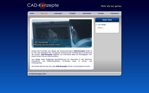 Screenshot of About Page cad-konzepte.de - CAD-Konzepte - captured Jan. 23, 2016