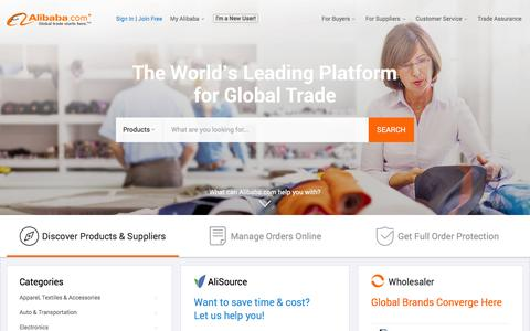 Manufacturers, Suppliers, Exporters & Importers from the world's largest online B2B marketplace-Alibaba.com