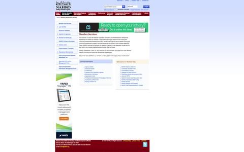 Screenshot of Services Page nahro.org - Member Services | NAHRO - captured Oct. 27, 2014