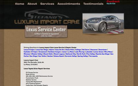 Screenshot of Maps & Directions Page luxuryimportcare.com - Driving Directions | Luxury Import Care: Lexus-Toyota-Scion Auto Service & Repair - captured Sept. 30, 2014