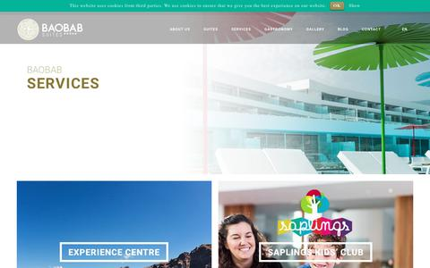Screenshot of Services Page baobabsuites.com - 5 star hotel in Costa Adeje | Sevices | Baobab Suites - captured June 1, 2017