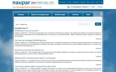 Screenshot of Press Page naupar.nl - Actueel nieuws van NAUPAR leest u hier. - captured Oct. 19, 2017