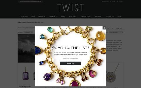 Screenshot of twistonline.com - Amethyst Designer Jewelry for February at TWISTonline.com - captured Feb. 18, 2017