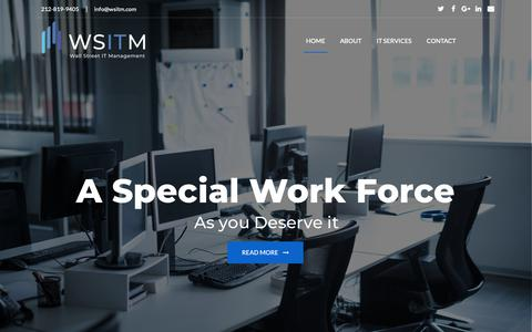 Screenshot of Home Page wsitm.com - WSITM.COM – Wall Street IT Management – Just another WordPress site - captured Nov. 15, 2018