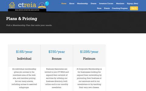 Screenshot of Pricing Page ctreia.com - Membership Pricing - Registration - CT REIA - captured Oct. 13, 2016