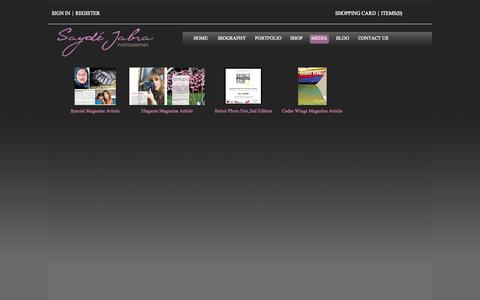 Screenshot of Press Page saydejabra.com - MEDIA | Sayde Jabra: TOP Professional Photography in Lebanon Lebanese Wedding Photographers Studio Videos - captured Oct. 4, 2014