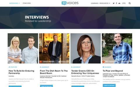 Screenshot of Team Page 33voices.com - Interviews and Insights - 33voices - captured Sept. 23, 2018