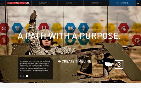 Screenshot of Home Page nationalguard.com - National Guard - captured Oct. 1, 2015