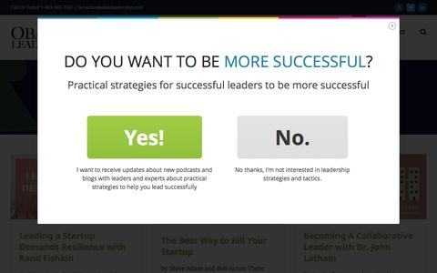 Screenshot of Blog obairleadership.com - Blog - Obair Leadership - captured Dec. 19, 2016