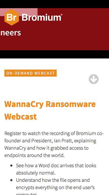 Bromium: WannaCry Webcast