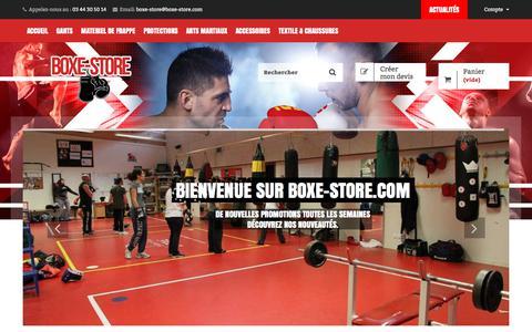 Screenshot of Home Page boxe-store.com - Boxe store : Matériel de boxe - Boxe Store : spécialiste de la boxe en ligne - captured Oct. 28, 2017