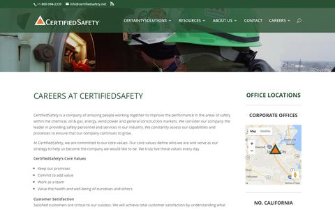 Screenshot of Jobs Page certifiedsafety.net - CertifiedSafety Careers   CertifiedSafety - captured July 23, 2017