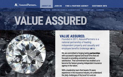 Screenshot of About Page assuredptr.com - About Us  |  AssuredPartners - captured March 12, 2016