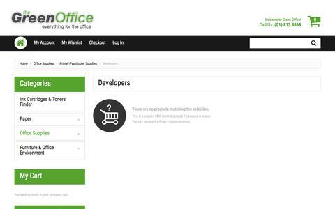 Screenshot of Developers Page greenoffice.ie - Developers - Printer\Fax\Copier Supplies - Office Supplies - captured Nov. 30, 2016