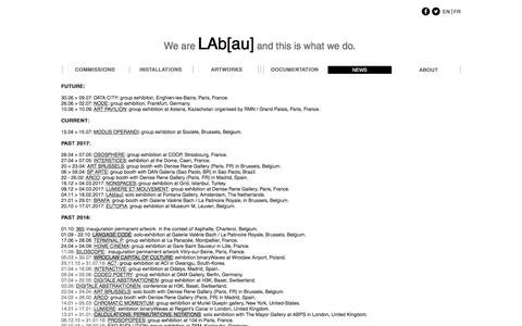 Screenshot of Press Page lab-au.com - LAb[au] | NEWS - captured May 9, 2017