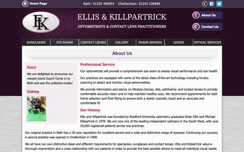 Screenshot of About Page ellisandkillpartrick.com - Ellis & Killpartrick Optometrists - Cheltenham, Bristol - captured Nov. 10, 2018
