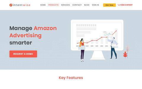 Screenshot of Products Page intentwise.com - Intentwise: Manage Amazon Advertising smarter - captured Dec. 5, 2018