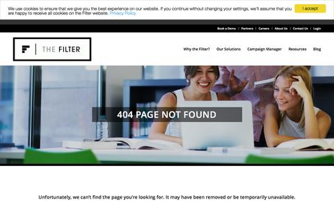 Screenshot of thefilter.com - Page not found - captured Jan. 28, 2017