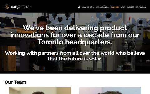 Screenshot of Team Page morgansolar.com - Our Team - Morgan Solar - captured Oct. 18, 2018