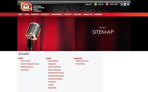 Screenshot of Site Map Page nemc.com - Sitemap | NEMC - captured Oct. 20, 2017