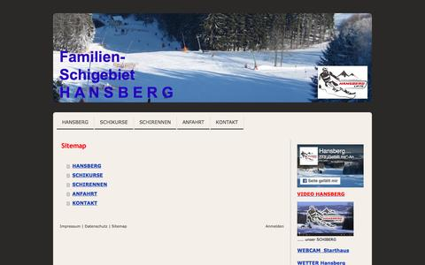 Screenshot of Site Map Page jimdo.com - Sitemap - www.hansberg.at - captured March 31, 2017