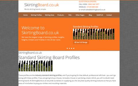 Screenshot of Home Page skirtingboard.co.uk - Skirting Board and Architrave, Full range of profiles  | SkirtingBoard.co.uk - captured Oct. 7, 2014