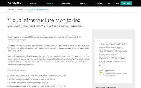 Cloud Infrastructure Monitoring | ExtraHop