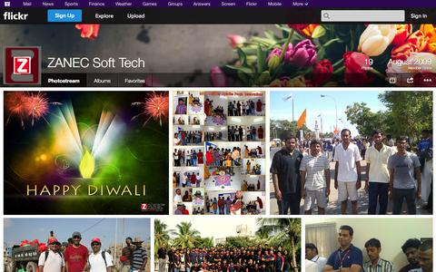 Screenshot of Flickr Page flickr.com - Flickr: ZANEC Soft Tech's Photostream - captured Oct. 26, 2014