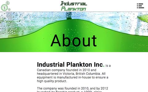 Screenshot of About Page industrialplankton.com - About | Industrial Plankton - captured Nov. 26, 2016