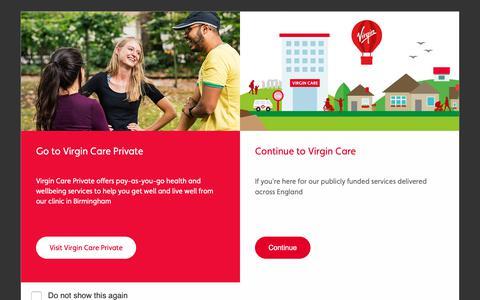 Screenshot of Press Page virgincare.co.uk - News releases Archives - Virgin Care - captured Oct. 4, 2018