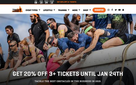 Screenshot of Home Page toughmudder.com - Mud Run | Obstacle Races | Tough Mudder | Tough Mudder - captured Jan. 16, 2019