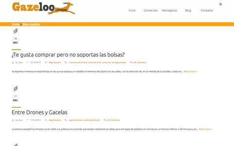 Screenshot of Blog gazeloo.com - Blog-Gazeloo   Gazeloo.com - captured Sept. 29, 2014