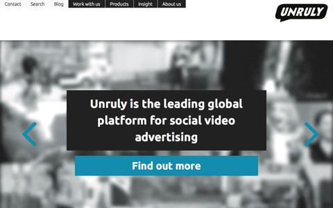 Screenshot of Home Page unrulymedia.de - Unruly - captured Sept. 19, 2014