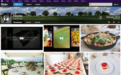 Screenshot of Flickr Page flickr.com - Flickr: Roots Farm Food's Photostream - captured Oct. 26, 2014