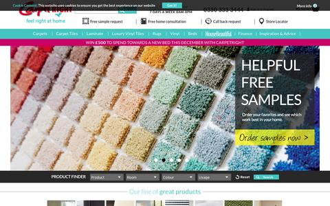 Screenshot of Home Page carpetright.co.uk - Carpetright | UK's largest selection of flooring and beds - captured Dec. 7, 2015