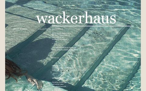 Screenshot of Contact Page wackerhaus.dk - Contact - captured Sept. 30, 2014