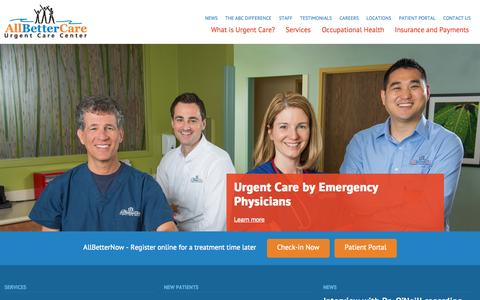 Screenshot of Home Page Privacy Page Contact Page Services Page Press Page Jobs Page FAQ Page Testimonials Page Locations Page allbettercare.com - AllBetterCare - captured Oct. 4, 2014