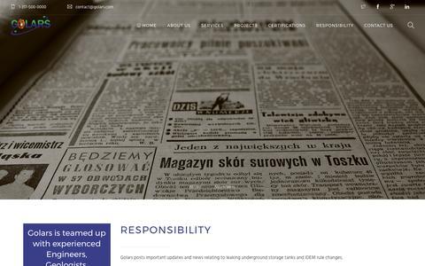 Screenshot of Press Page golars.com - Newsroom – Golars | Environmental due diligence|Drilling services| Remediation strategies| Brownfield development| Golars - captured Aug. 24, 2017