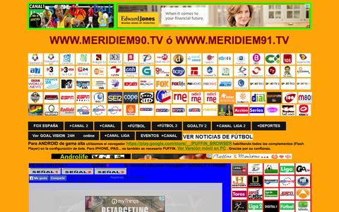 Screenshot of Home Page meridiem91.com - MERIDIEM 90 TV OFICIAL - captured Sept. 19, 2014