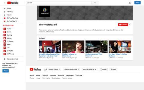 TheFiveStarsCard  - YouTube